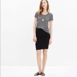 Madewell Cotton Blend Pull On Skirt